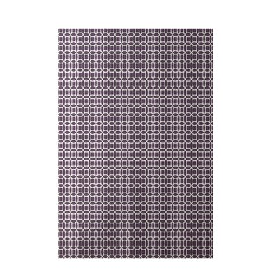 Geometric Purple Indoor/Outdoor Area Rug Rug Size: 4 x 6