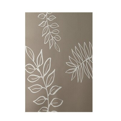 Floral Beige Indoor/Outdoor Area Rug Rug Size: 4 x 6