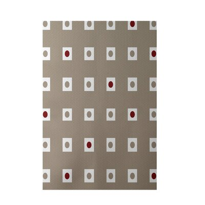 Geometric Beige Indoor/Outdoor Area Rug Rug Size: 4 x 6