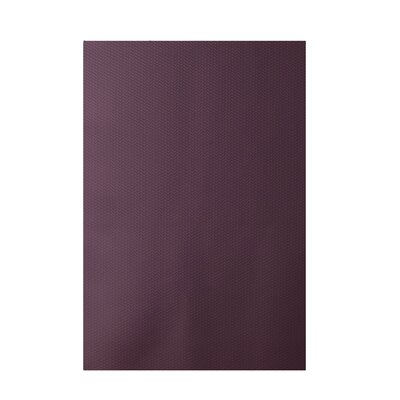 Solid Purple Indoor/Outdoor Area Rug Rug Size: 3 x 5