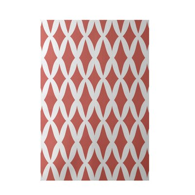 Geometric Orange Indoor/Outdoor Area Rug Rug Size: 5 x 7