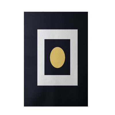 Geometric Navy Blue Indoor/Outdoor Area Rug Rug Size: 3 x 5
