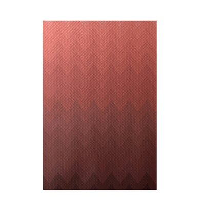 Chevron Rust Indoor/Outdoor Area Rug Rug Size: 3 x 5