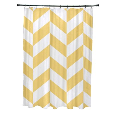 Subline Geometric Shower Curtain Color: Yellow