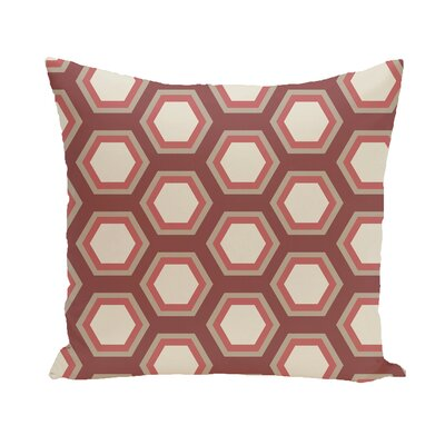 Subline Geometric Throw Pillow Size: 26 H x 26 W, Color: Rust / Taupe