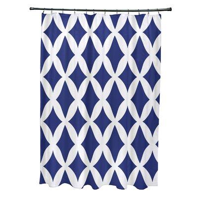 Subline Geometric Shower Curtain Color: Royal Blue