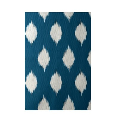 Geometric Teal Indoor/Outdoor Area Rug Rug Size: Rectangle 2 x 3