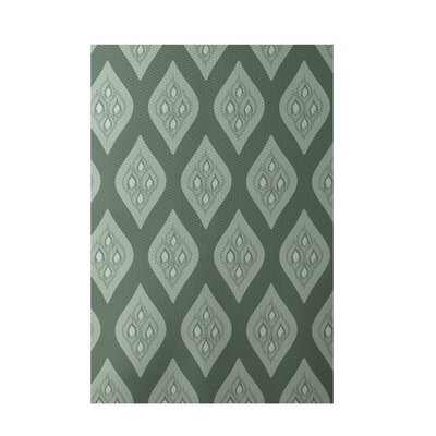 Floral Green Indoor/Outdoor Area Rug Rug Size: 4 x 6
