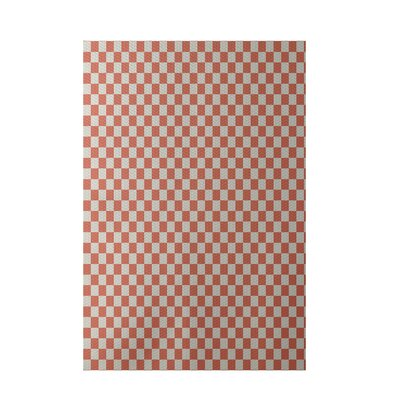 Geometric Coral Indoor/Outdoor Area Rug Rug Size: 3 x 5
