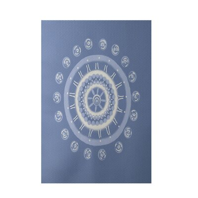 Geometric Light Blue Indoor/Outdoor Area Rug Rug Size: Rectangle 3 x 5