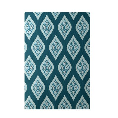 Floral Teal Indoor/Outdoor Area Rug Rug Size: 5 x 7