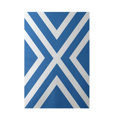 Stripe Blue Indoor/Outdoor Area Rug Rug Size: 4 x 6