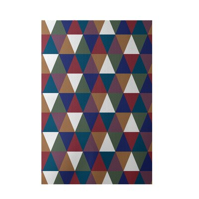 Geometric Brown Indoor/Outdoor Area Rug Rug Size: 5 x 7