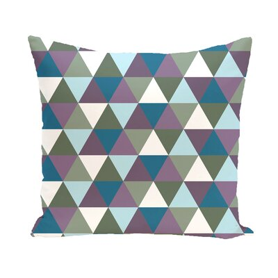 Subline Geometric Throw Pillow Size: 26 H x 26 W, Color: Green / Blue