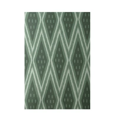 Geometric Green Indoor/Outdoor Area Rug Rug Size: 3 x 5