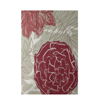 Floral Rust Indoor/Outdoor Area Rug Rug Size: Rectangle 2' x 3'