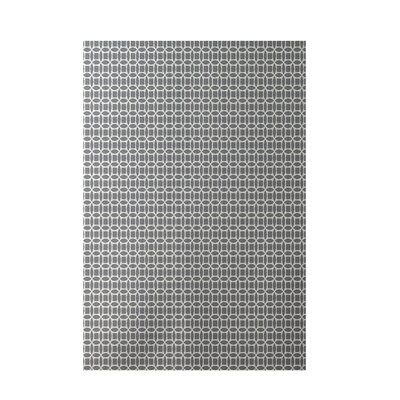 Geometric Gray Indoor/Outdoor Area Rug Rug Size: 2 x 3