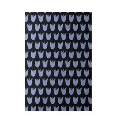 Floral Blue Indoor/Outdoor Area Rug Rug Size: Rectangle 2 x 3