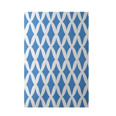 Geometric Blue Indoor/Outdoor Area Rug Rug Size: Rectangle 3 x 5