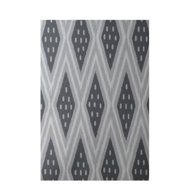 Geometric Gray Indoor/Outdoor Area Rug Rug Size: Rectangle 2 x 3