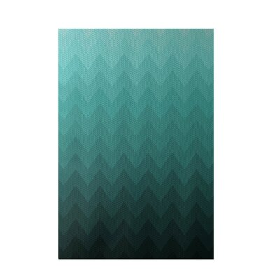 Chevron Aqua Indoor/Outdoor Area Rug Rug Size: 4 x 6