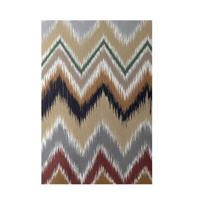 Chevron Taupe Indoor/Outdoor Area Rug Rug Size: Rectangle 2' x 3'