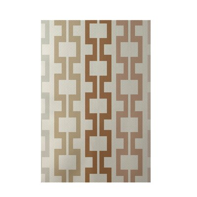 Geometric Off White Indoor/Outdoor Area Rug Rug Size: 3' x 5'