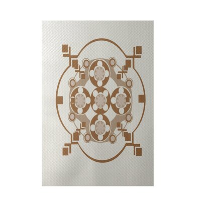 Geometric Off White Indoor/Outdoor Area Rug Rug Size: 4' x 6'