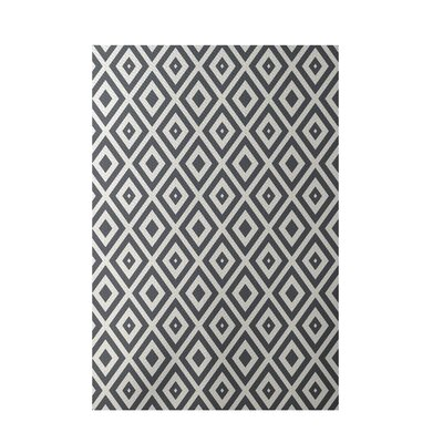 Geometric Dark Gray Indoor/Outdoor Area Rug Rug Size: 5 x 7