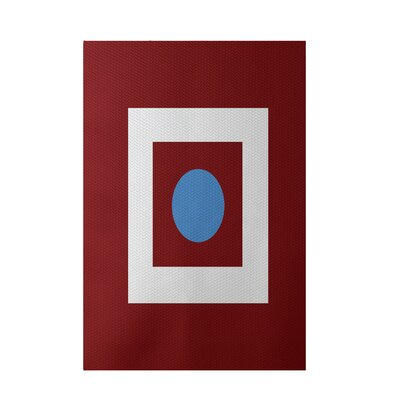 Geometric Red Indoor/Outdoor Area Rug Rug Size: 4 x 6