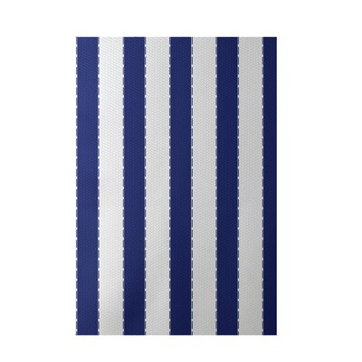 Stripe Blue Indoor/Outdoor Area Rug Rug Size: 5 x 7