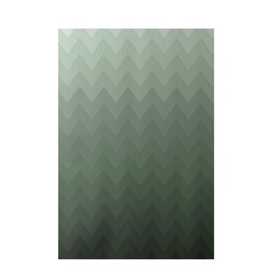Chevron Green Indoor/Outdoor Area Rug Rug Size: 5 x 7