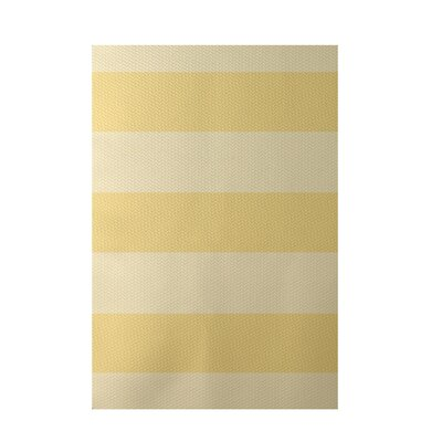 Stripe Yellow Indoor/Outdoor Area Rug Rug Size: 3 x 5