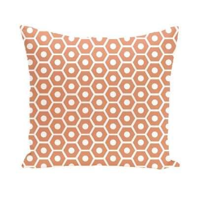 Subline Geometric Throw Pillow Size: 16 H x 16 W, Color: Orange