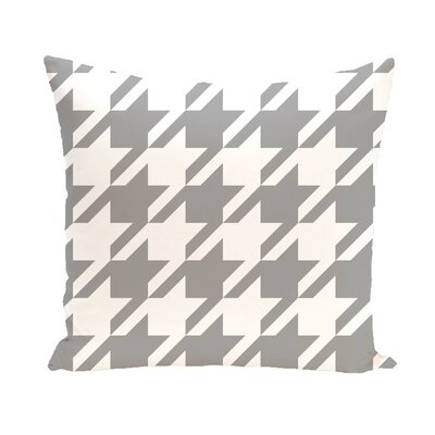 Houndstooth Geometric Print Outdoor Pillow Color: Classic Gray, Size: 18 H x 18 W x 1 D