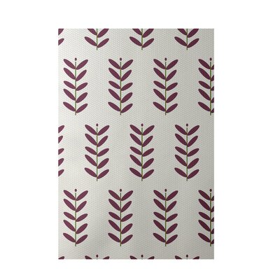 Floral Off White Indoor/Outdoor Area Rug Rug Size: 3 x 5