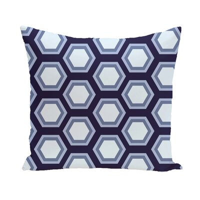 Agatha Geometric Print Outdoor Pillow Color: Steel Gray, Size: 18 H x 18 W x 1 D