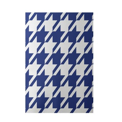 Geometric Royal Blue Indoor/Outdoor Area Rug Rug Size: 2' x 3'