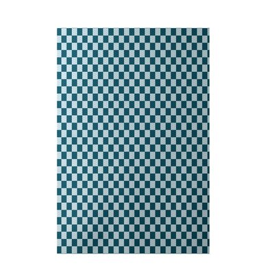 Geometric Blue Indoor/Outdoor Area Rug Rug Size: 3 x 5