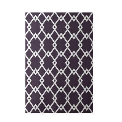 Geometric Purple Indoor/Outdoor Area Rug Rug Size: 3 x 5