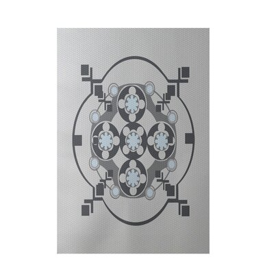 Light Gray Indoor/Outdoor Area Rug Rug Size: 5 x 7