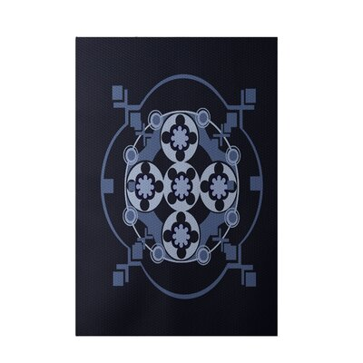 Navy Blue Indoor/Outdoor Area Rug Rug Size: 2 x 3
