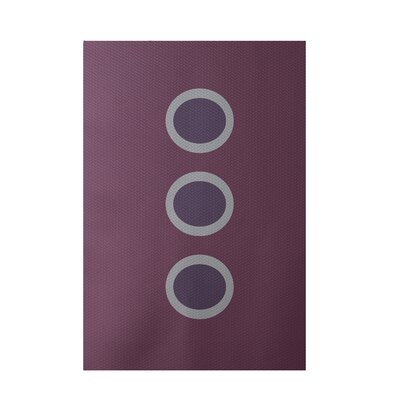 Geometric Purple Indoor/Outdoor Area Rug Rug Size: 5 x 7