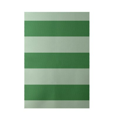 Stripe Green Indoor/Outdoor Area Rug Rug Size: 3 x 5