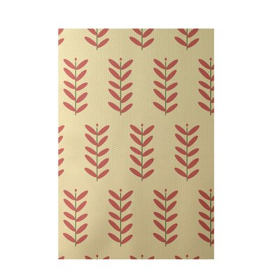 Floral Yellow Indoor/Outdoor Area Rug Rug Size: 4 x 6