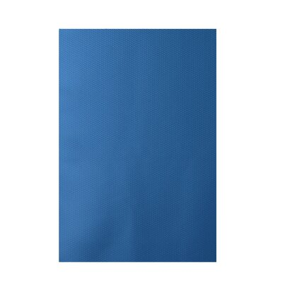 Solid Blue Indoor/Outdoor Area Rug Rug Size: 4' x 6'