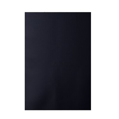 Solid Navy Blue Indoor/Outdoor Area Rug Rug Size: 5 x 7