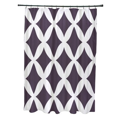 Subline Geometric Shower Curtain Color: Purple