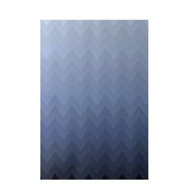 Chevron Blue Indoor/Outdoor Area Rug Rug Size: 4 x 6