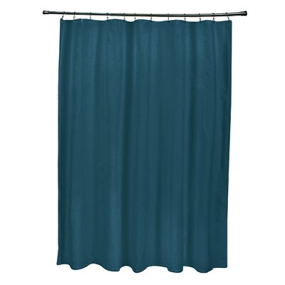 Solids Shower Curtain Color: Teal